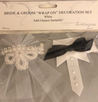 kit decorativo para taças – bride and groom 2