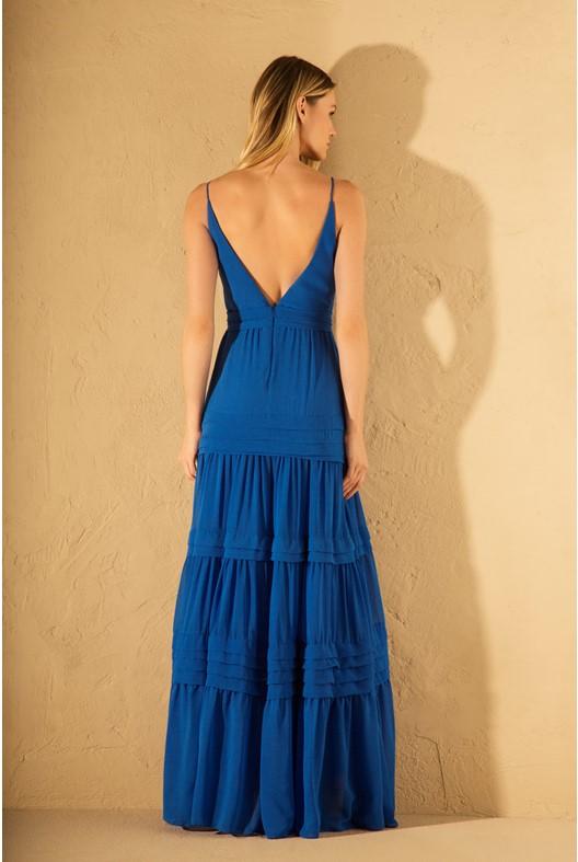 Iorane – Vestido Longo Azul Bic 3