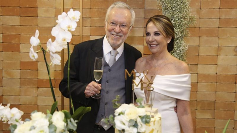 Alexandre Garcia e Magda Pereira se casam em Brasília