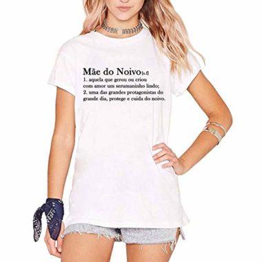 camiseta mae do noivo branca