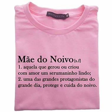 camiseta mae do noivo rosa