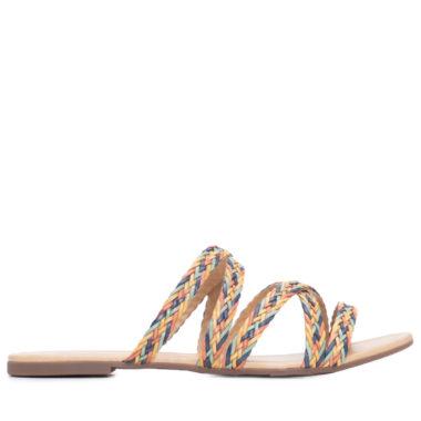 sandalia bege trancada